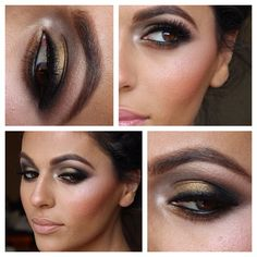 Smokey eye on deep set eyes similar to mine..
