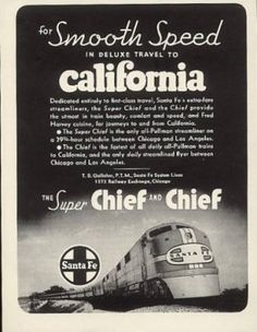 Image detail for -Western Sierra Railroad - Santa Fe - Railroad Ads.