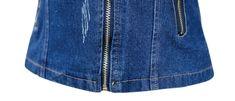 Tanming Women's Lapel Zip Up Moto Biker Denim Jean Jacket #Sponsored Rompers Women, Jumpsuits For Women, Overalls Women, Women's Casual, Denim Skirt, Zip Ups, Biker, Skirts, Jackets