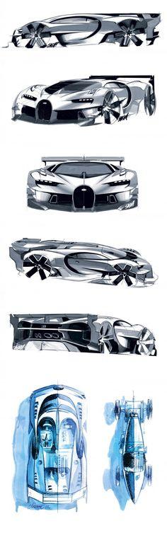 Bugatti Vision GT Sketches ::