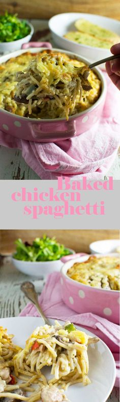 Delicious baked chicken spaghetti - the ultimate comfort food!