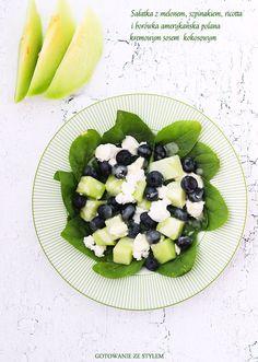 Salad with melon   Gotowanie ze stylem