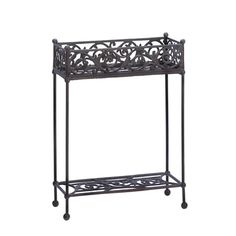 Wrought iron plant stand.  ♡ it