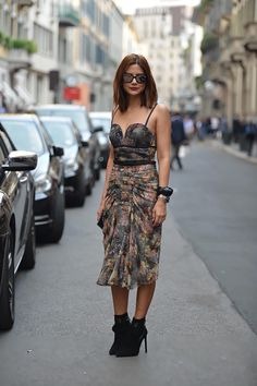 Christine Centenera on the streets in Milan so style !!! #MFW #CC