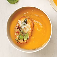Simple Butternut Soup | Cooking Light #myplate #veggies