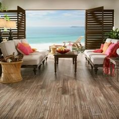 Coastal laminate flooring