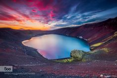 Ugly puddle by ottomrlee  beautiful beauty blue clouds green highlands iceland lake landscape light moss mountains national na