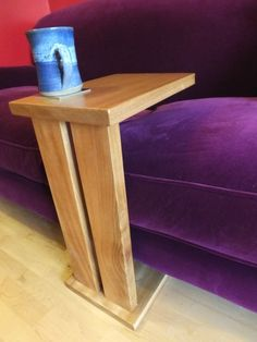Side Table Sofa Table End Table Tray Table by CadenceWoodwork