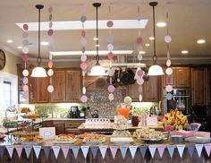 Seriously Daisies: Pink  Gray Baby Shower {Food  Drinks Bar}