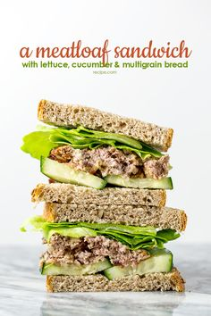 A flavorful and tender Mediterranean meatloaf is even better served as a meatloaf sandwich, with lettuce, cucumber, and multigrain bread.