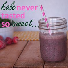 Quick Easy Kid Friendly Kale Smoothie! Great way to sneak in the veggies without your kid's knowing!   http://www.workitmom.com/bloggers/quickrecipes/2013/09/26/tasty-kale-smoothie/