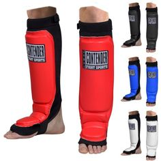 CONTENDER FIGHT SPORTS MMA GRAPPLING SHIN GUARDS muay thai MMA kickboxing sparr #Contender