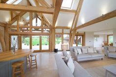 Homes - Natural Structures Oak Framed Extensions, Garden Lodge, Open Plan Kitchen Dining Living, Garden Room Extensions, House Seasons, Design Your Own Home, Dutch House, Georgian Architecture, Timber Frame Homes