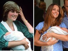 Paying tribute? Like Princess Diana, Duchess Kate addressed the crowds outside St. Mary's hospital in a loose polka-dot gown.
