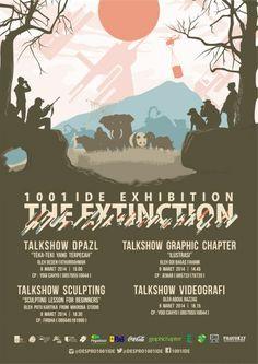 """Talkshow 1001 Ide Exhibition """"The Extinction"""" 8 – 9 Maret 2014 At Lower Ground Ciputra World Surabaya  http://eventsurabaya.net/talkshow-1001-ide-exhibition-the-extinction/"""