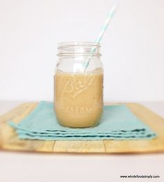 A quick and easy caramel milkshake. Free from dairy, gluten, grains, nuts and refined sugar. I hope you like it.