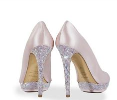 Cute pale pink and crystal shoes