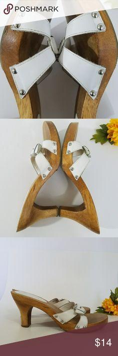 I just added this listing on Poshmark: MIA White, Wood and Buckle Sandals Size 7M. #shopmycloset #poshmark #fashion #shopping #style #forsale #Mia #Shoes