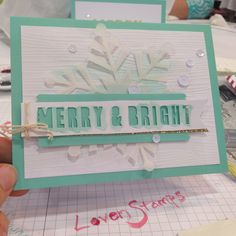 Stampin' Up! demonstrator Meg L's project showing a fun alternate use for the Watercolor Winter Simply Created Card Kit.
