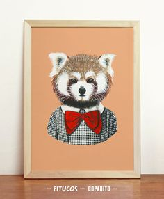 TITLE    Red Panda FEATURES    Giclée.  Fine art digital print made on inkjet printer  Printed on 200g Archival Matte paper.  Professionally-produced