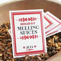 MULLING SPICE Favor Pouches by BushelandPeckPaper on Etsy https://www.etsy.com/listing/164386340/mulling-spice-favor-pouches