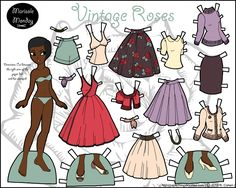 marisole monday paper dolls vintage roses - Google Search