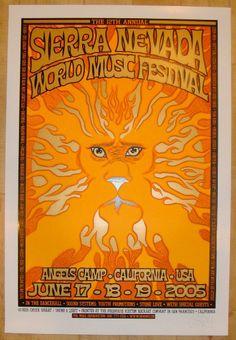 2005 Sierra Nevada World Music Festival Poster by Chuck Sperry