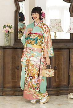 振袖の商品詳細: NO.030 正絹 京友禅 振袖のレンタルは京都きもの友禅