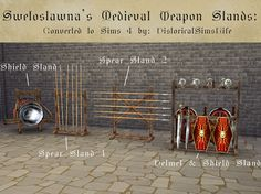 TS4: Medieval Weapon Stands - History Lover's Sims Blog