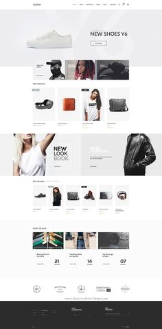 ALESIA is an #eCommerce #Bootstrap HTML #template with clean, modern and professional design. Includes 10 home pages, 7 shop variations, 2 product page layouts, 6 headers, 4 blog styles and many more options which gives you plenty of choices.