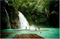 kawasan falls, cebu, philippines