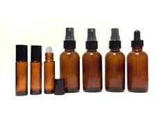 2 oz Amber Glass Bottle 7 piece Starter Kit Set