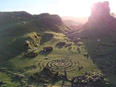 Fairy Glen – Uig, Scotland | Atlas Obscura | Note that there are no signs for the Fairy Glen. If you're heading North on the A87 (coming from Portree), turn right on the road right just before the Uig Hotel. It's about a five minute drive along a narrow, winding path to the glen, which is visible from the road. Park on the grass, but be careful not to block any traffic.