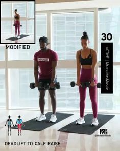 Fitness Workouts, Full Body Hiit Workout, Gym Workout Videos, Fitness Workout For Women, Dumbbell Workout, Butt Workout, Body Fitness, At Home Workouts, Cardio Workouts