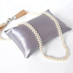 後ろリボンの、極小パールネックレスの作り方! | 簡単DIY!numakoのブログ