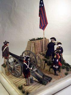Battle of Yorktown October 19, 1781 General George Washington and Comte de Rochambeau 1/6 Scale Model Diorama