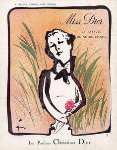 Christian Dior (Perfumes) 1954 Miss Dior, Gruau