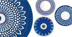 Hermes Bleus D'Ailleurs dishes