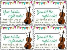 Take Home Music Awards- elevate the positive and send home some encouragement with these notes!