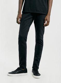 Washed Black Stretch Slim Jeans