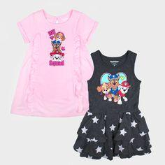 d822865b27e44 Toddler Girls  2pk Nickelodeon Paw Patrol Short Sleeve Dress Set - Pink 3T