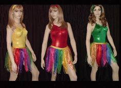 RAINBOW FAIRY Pixie MONARCH Dance Costume LEOTARD & SKIRT Child XL-Adult S NEW #Cicci