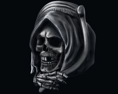 grim Reaper skull Ring for unisex made of sterling silver 925 Gothic biker Badass Skulls, Pokerface, Classic Harley Davidson, Biker Rings, Halloween Jewelry, Grim Reaper, Harley Davidson Motorcycles, Skull Art, Luxury Gifts