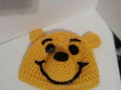 Winnie the Pooh Bear Beanie Hat Crochet Pattern free crochet pattern from cRAfterChick.com Oh bother! I know a lot of my friends love Winnie the Pooh as well as the children in my Mother's school so I made this one up to be auctioned off to raise money for the school.  It's actually a…