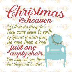 Christmas in Heaven Chair svg SVG files SVG file Cut file Cutting file Christmas svg Holiday svg Silhouette svg Cricut svg eps dxf by HoneybeeSVG on Etsy