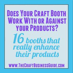 16 craft fair display pictures that show how to match your product with your booth.