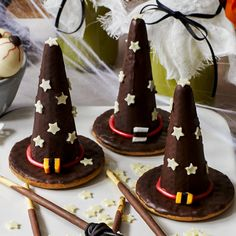Try creating your own edible witches' hats using a chocolate digestive biscuit, ice cream cone and a few sweet treats. The kids will love designing their own hats. Find the recipe on the Waitrose website.