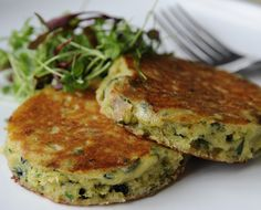 Courgette & Wild Garlic Pancakes with Snowdonia Cheese and Chives