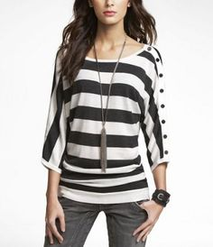 I'm all about stripes right now! @Jennette Devoe can I borrow your black and white shirt???