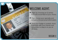 Agents of S.H.I.E.L.D | Get Your ID Badge. EHEEHEEHEE. I might just do this. And yes, I will carry it with me.